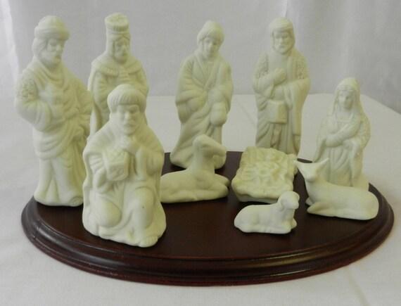 SALE Nativity Set Vintage White Porcelain by Atticsnoops on Etsy