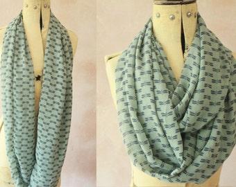 Infinity scarf - Eternity scarf, Circle scarf, Chiffon scarf, Tube scarf, Snood  - Chiffon Fly