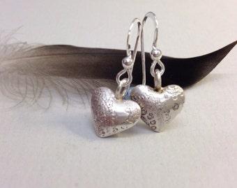 Paisley Design heart drop earrings