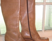 Beautiful Loafer Style Knee High Boots (Size 10)