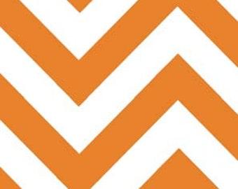 Medium  Tangerine - Moda Half Moon Modern Zig Zag - 1 yard