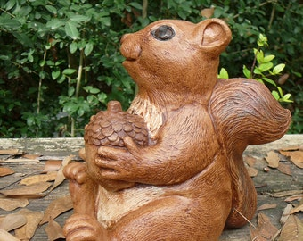 Squirrel Statue Etsy