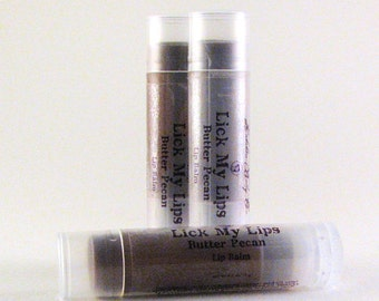 Butter Pecan Lip Balm - Brown Sugar Lip Balm - Handmade