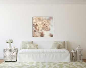 Soft & Dreamy -  Canvas GALLERY WRAP - Cherry Blossom, Spring, Washington, D.C., White, Whimsical, Wall, Art, Dreamy, Decor, Nursery, Baby
