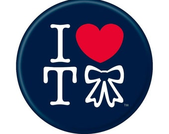 I Heart Tebow Button for New England Patriots Fans