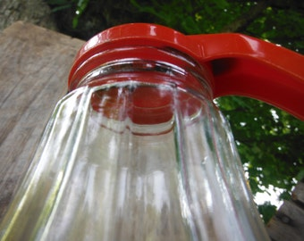 Red Top Syrup Container - Kitchen
