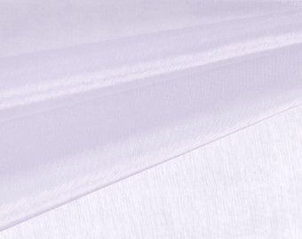 Light Lavender Organza Fabric by the Yard, Wedding Decoration Organza Fabric, Sheer Fabric - Style 1901