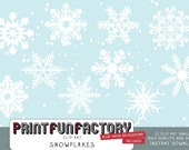 Snowflakes clip art INSTANT DOWNLOAD