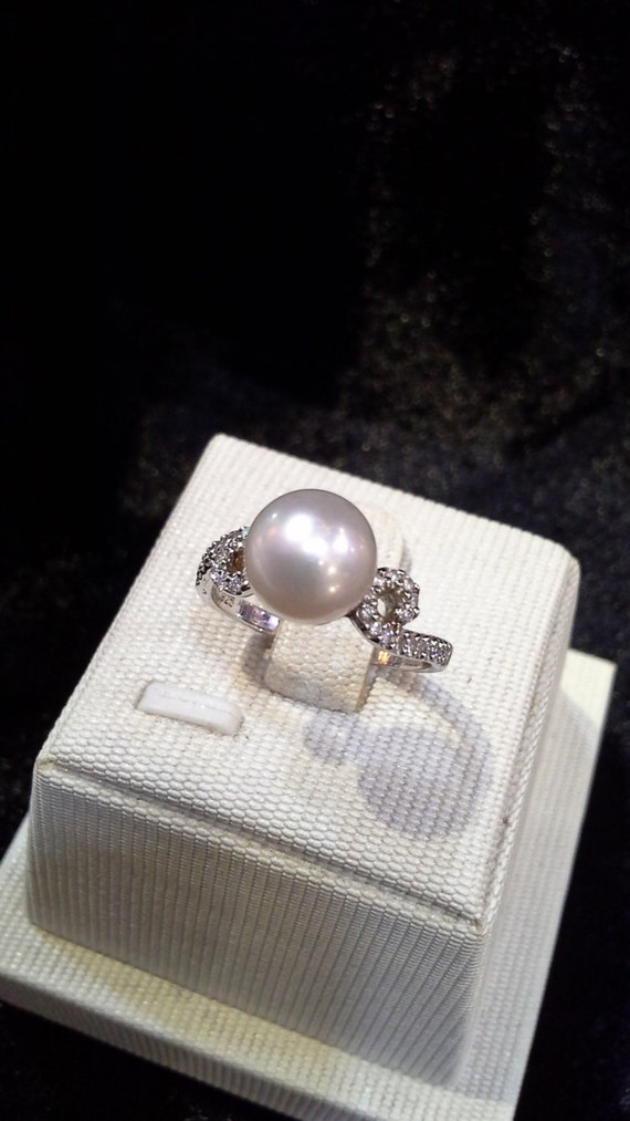 Blest Jewellery - Wedding Ring, Pearl Ring, Pearl Wedding Ring, 925 Ring, Sterling Silver Ring, Sterling Silver Pearl Ring.