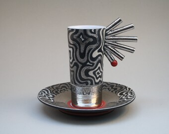Platinum cup & saucer by Thomas Kummer