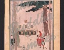 Vintage ORIGINAL Magazine Cover , House Beautiful , January, 1918, Artist: Blanche Graur (HB060)