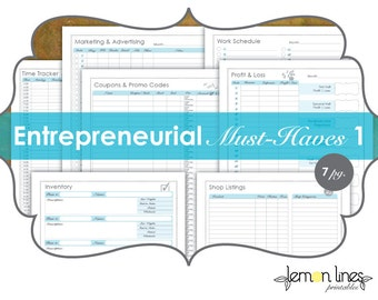 Entrepreneur Must-Haves Printable Pack Part 1 - INSTANT DIGITAL DOWNLOAD