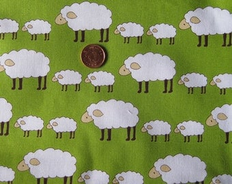 "Locally Grown Sheep Fabric  - Fat Quarter - (18"" x  20"") x 1"