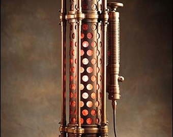 Cylindrium Table Lamp: a hand-made steampunk styled light