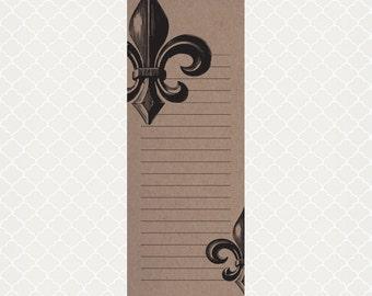 Fleur-de-Lis Kraft Notepad