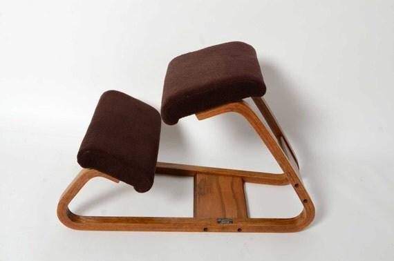 Ergonomic Kneeling Chair Mid Century Danish Modern Bent Wood