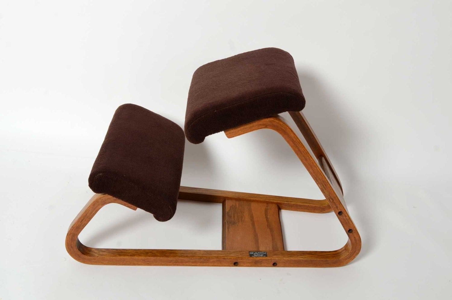 Ergonomic Kneeling Chair Mid Century Danish Modern Bent Wood