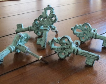 Key Shaped Knobs/ Drawer Knobs / Drawer Pulls/ Shabby Chic/ Rustic/ Cupboard Knobs/ Drawer Handles/ Old World Charm