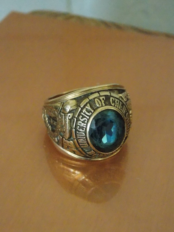 1933 class ring mans 10k gold antique by designersshowcase