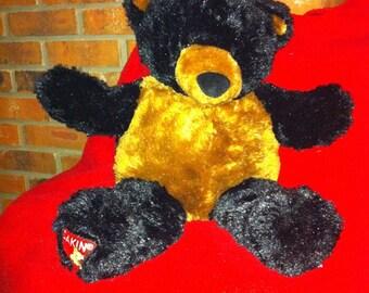 Dakin Teddy Bear 22 Inch Black and Brown VERY RARE FIND
