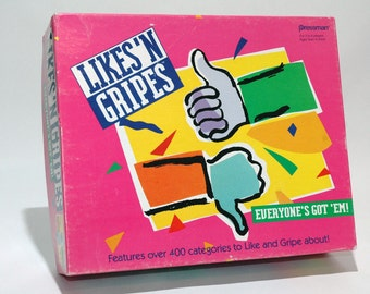 Likes N Gripes game from Pressman 1992 COMPLETE