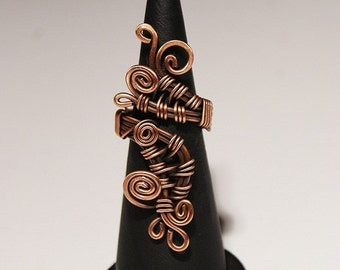 copper ring wire wrapped jewelry handmade ring -copper jewelry - wire wrap ring jewelry handmade