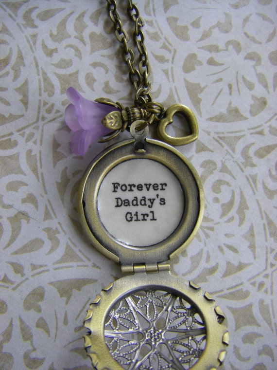Forever Daddy 39 S Girl Locket Necklace Father Daughter
