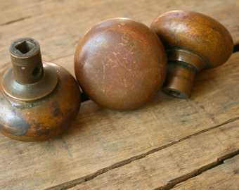 Vintage Antique Brass Doorknobs