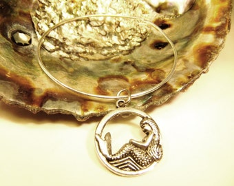 Song of the Siren Mermaid stackable wire bangle bracelet