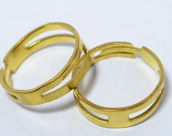 12 Pcs Raw Brass 16 mm Ring Supplies