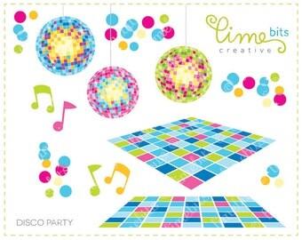Disco Party Clip Art
