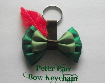 Peter Pan Bow Keychain