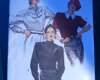 Vogue 9655 - Blouse Pattern - Easy Sewing Pattern - Patterns Tutorials - Commercial Pattern - Womens Shirt Pattern - Vogue Patterns