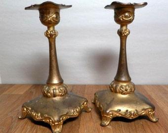 Antique Art Nouveau Candlesticks