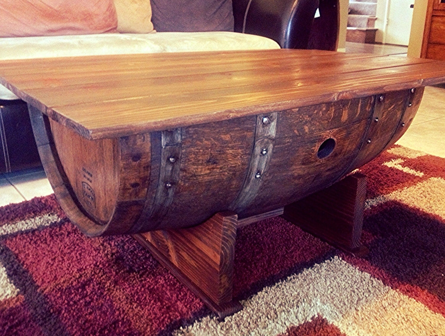 Wine Barrel Coffee Table And Trunk By Beyondabarrel On Etsy