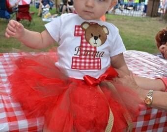 Teddy bear picnic bodysuit / tee