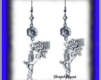 GUNS AND ROSES Earrings by ShopAtLuxe Originals