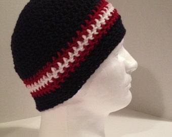 Crochet Beanie, Skullcap, Mens/Teens