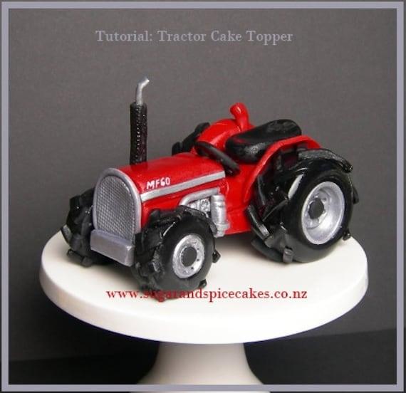 Fondant Tractor Cake Topper Tutorial