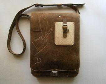Masterchef's Vertical 15 inch Laptop Bag and IPad,School bag, Macbook Retina Bag Student Bag, Slimfitt Laptop Bag, Handmade