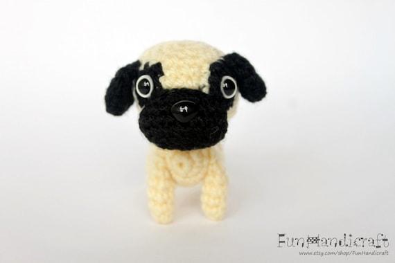 Items similar to Pug Amigurumi Dog Crochet Pattern / E ...