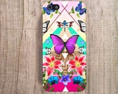Butterfly iPhone Case Wood Print iPhone 4s Case Wood Print  Floral iPhone 4 Case Geometric Cases Butterfly iPhone, Tropical iPhone Case