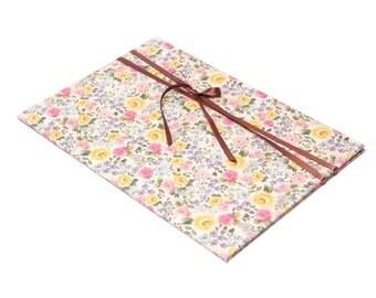 File folders size A4 with vintage rose flower pattern