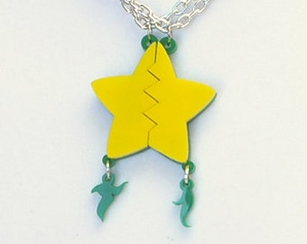 Kingdom Hearts Paopu Fruit Friendship Necklace