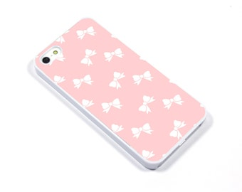 iPhone 5/5s iPhone 5c iPhone 6/6plus Samsung Galaxy S3 S4 S5 iPod touch 4th/5th Gen -  bow ribbon blush pink - p20