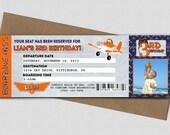 Airplane Ticket Birthday Invitation - Printable