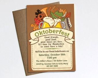 Oktoberfest Invitation - Printable file