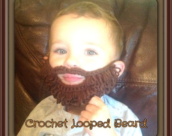 Crochet Looped Beard Pattern. Make in Small and Large Sizes.