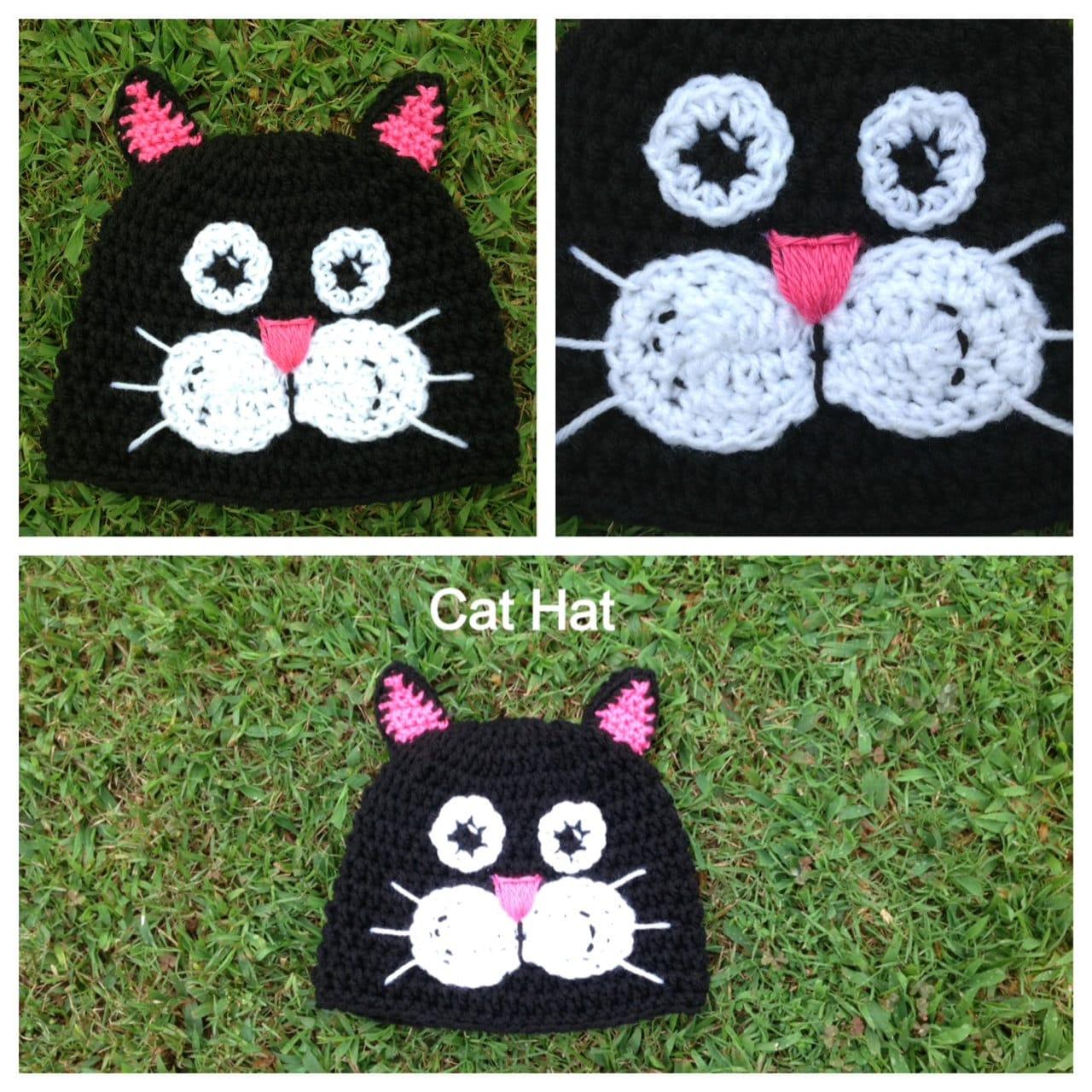 Crochet Cat Hat Pattern . Newborn Adult Sizes by KraftyShack