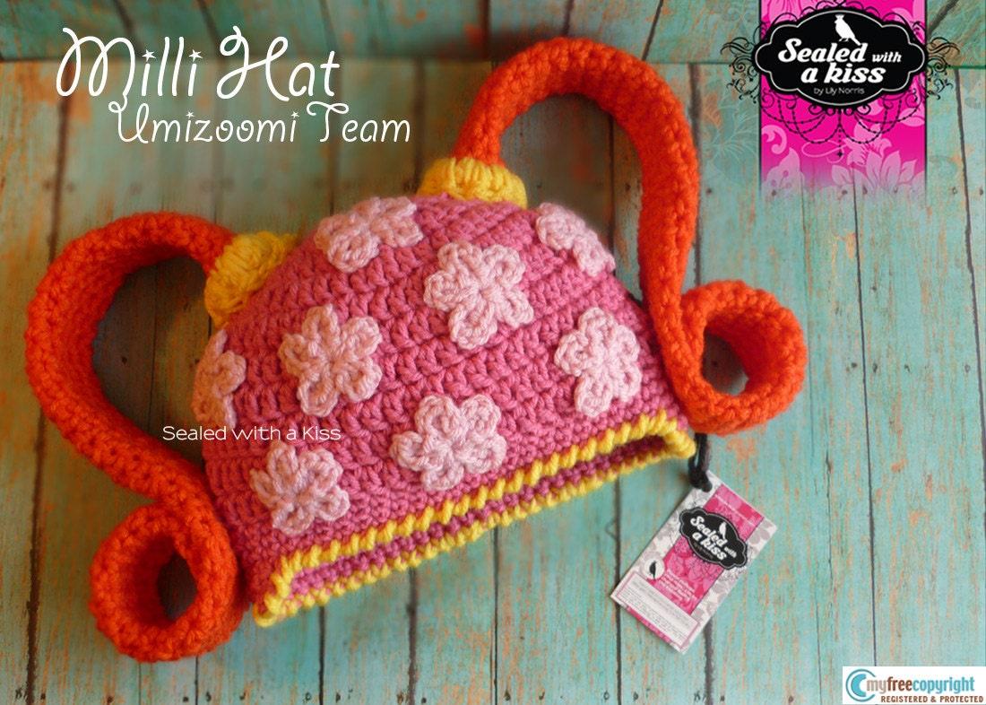 Free Crochet Pattern Umizoomi : Original Milli Crochet Hat UmiZoomi Team by SWAKbyLilyNorris